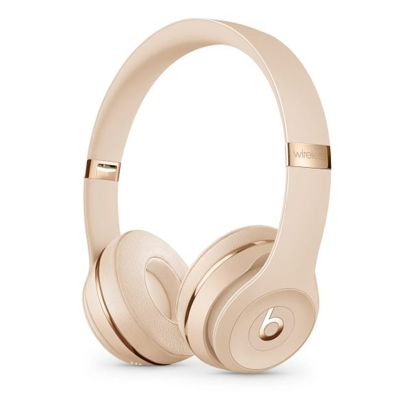 Beats Solo3 Satin Gold Bluetooth Wireless Headphones