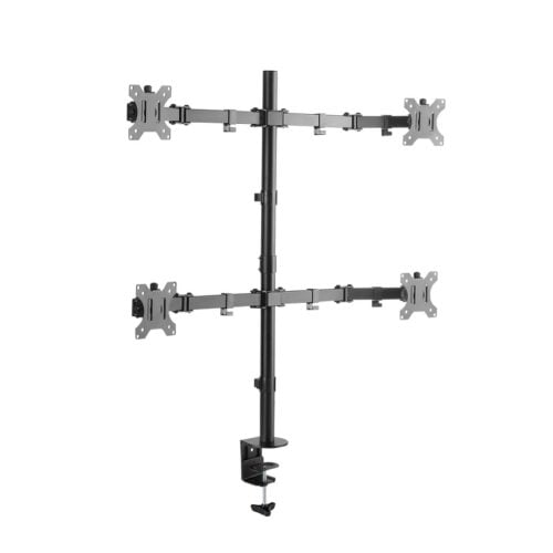"Brateck LDT30-C048 17-32"" Quadruple Monitor Desk Mount"