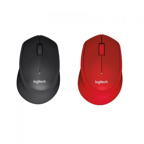 Logitech M331 Silent Plus Wireless Mouse - Black/Red