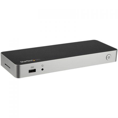 Startech DK30CHDDPPD Dual Monitor USB-C Dock - DisplayPort, HDMI, USB-C, USB-A, RJ45, 3.5mm, SD/MMC