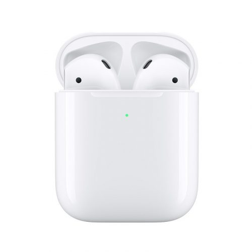 Apple AirPods True Wireless Earbuds with Wireless Charge Case