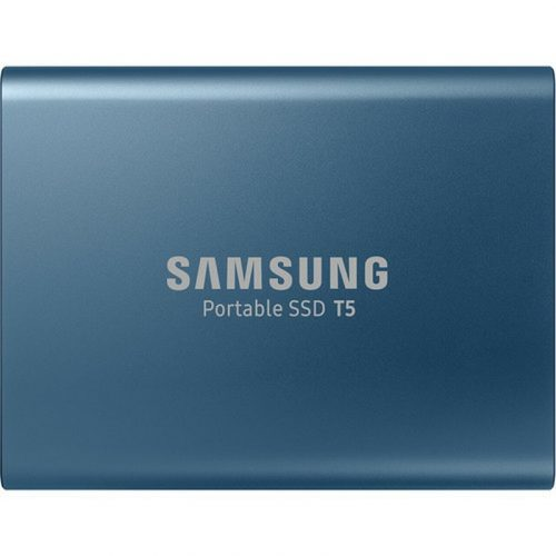 Samsung T5 500GB Portable SSD Alluring Blue - MU-PA500B/WW USB 3.1 Gen 2 with up to 540MB/s
