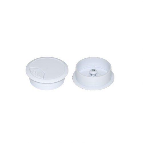 DYNAMIX CG60WH 60mm Round Desk Grommet White