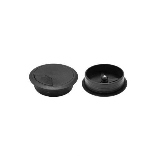 DYNAMIX CG60BK 60mm Round Desk Grommet Black