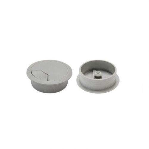 DYNAMIX CG60GY 60mm Round Desk Grommet Grey