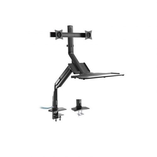 """Brateck DWS21-C02 17-27"""" Dual Monitor Gas Spring Sit-Stand Desk"""