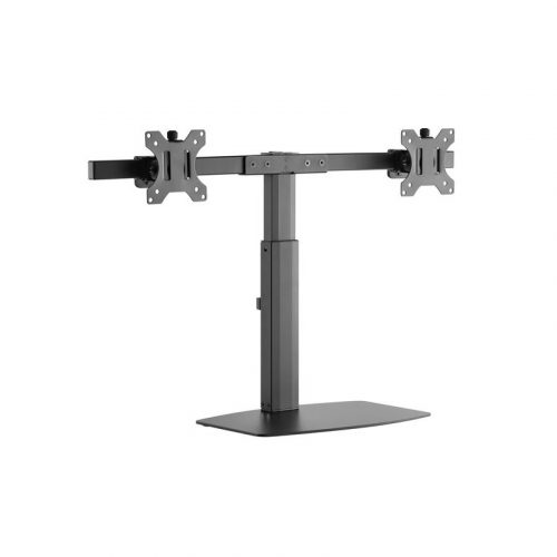 """Brateck Dual Screen Monitor Mount - Support 17""""-27"""" Vertical Lift (LDT22-T02)"""