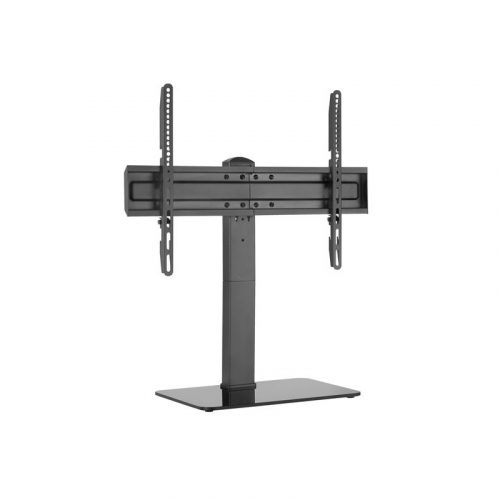 """Brateck TV Desk Stand - Glass Base Supports 37""""-70"""" TV (LDT03-23L)"""