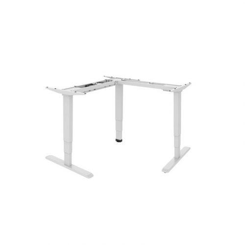Brateck Electric Sit-Stand Desk - L-Shape Desk Frame with Triple Motors (M06-33R.WHT)