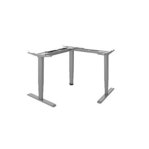 Brateck Grey Sit-Stand Desk - L-Shape Desk Frame with Triple Motors (M06-33R.GRY)