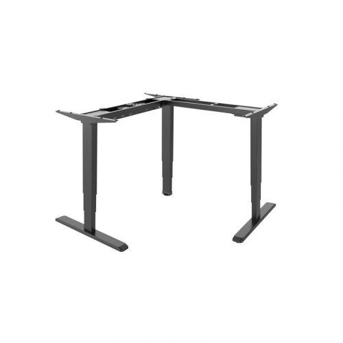 Brateck Black Sit-Stand Desk - L-Shape Desk Frame with Triple Motors (M06-33R.BLK)