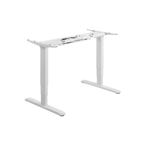 Brateck White Electric Desk - Sit-Stand Desk Frame with Dual Motors (M06-23RWHT)