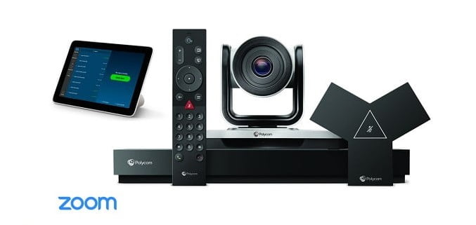 Poly G7500 + Poly EagleEye IV-12X Camera + Poly TC8 Touch Controller Zoom Room Video Conference Bundle
